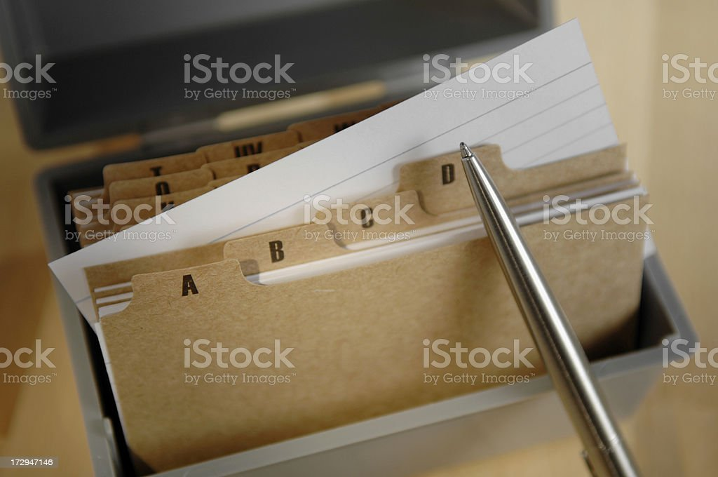 card index series stock photo
