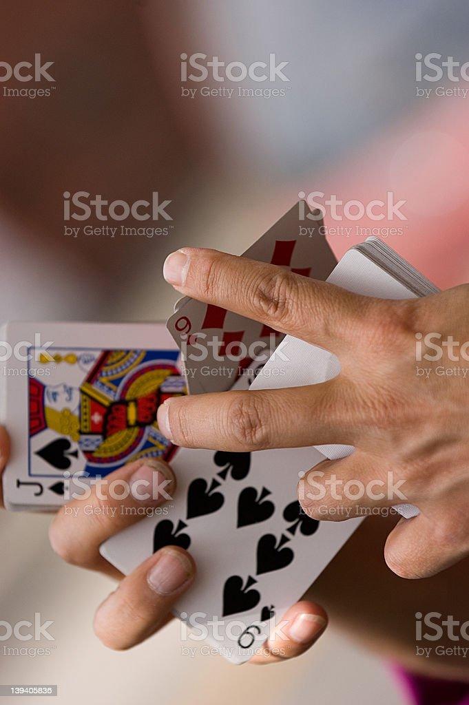 Card magic stock photo