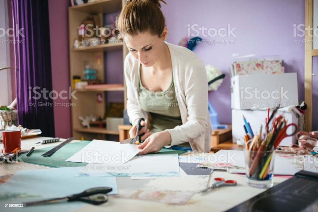 Card maker stock photo