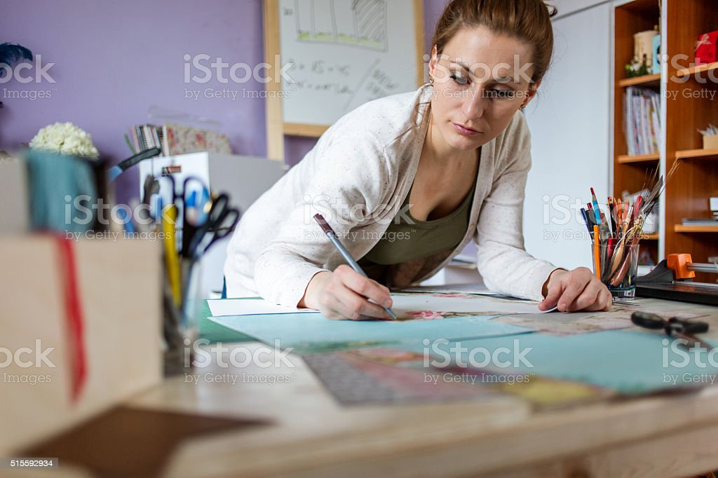 Card making stock photo