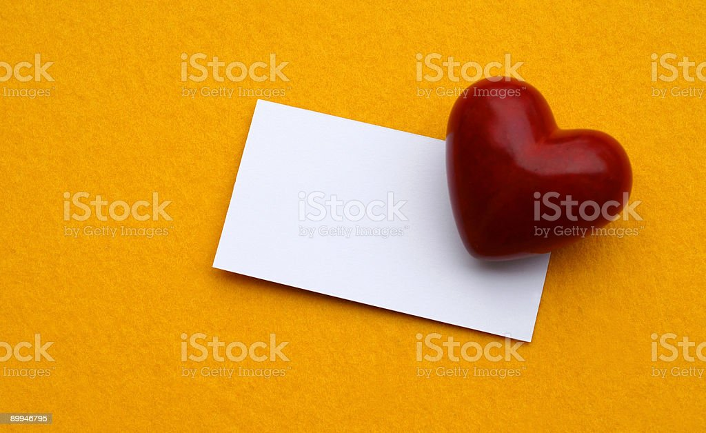 Card of Love stock photo