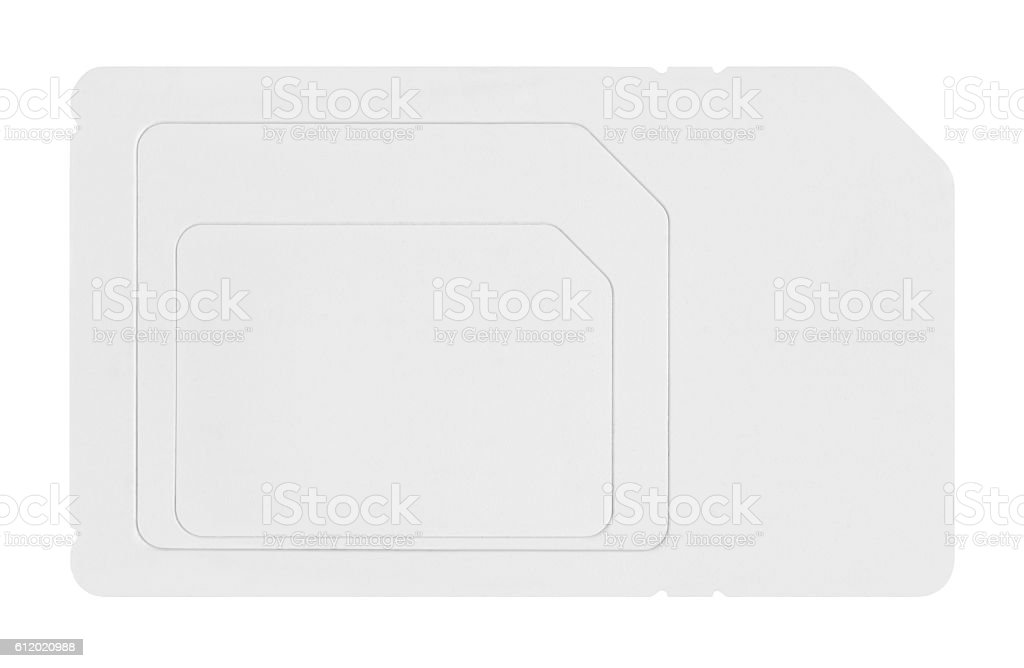 SIM card on white background stock photo
