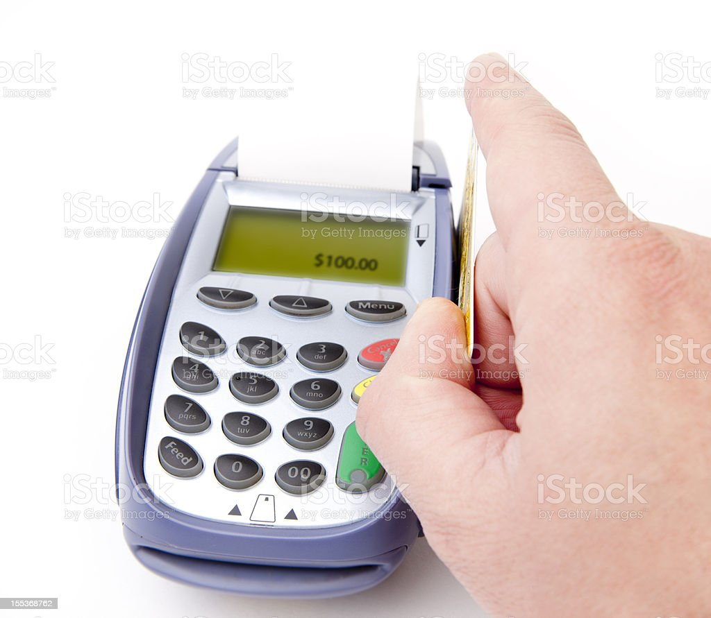 Card payment royalty-free stock photo