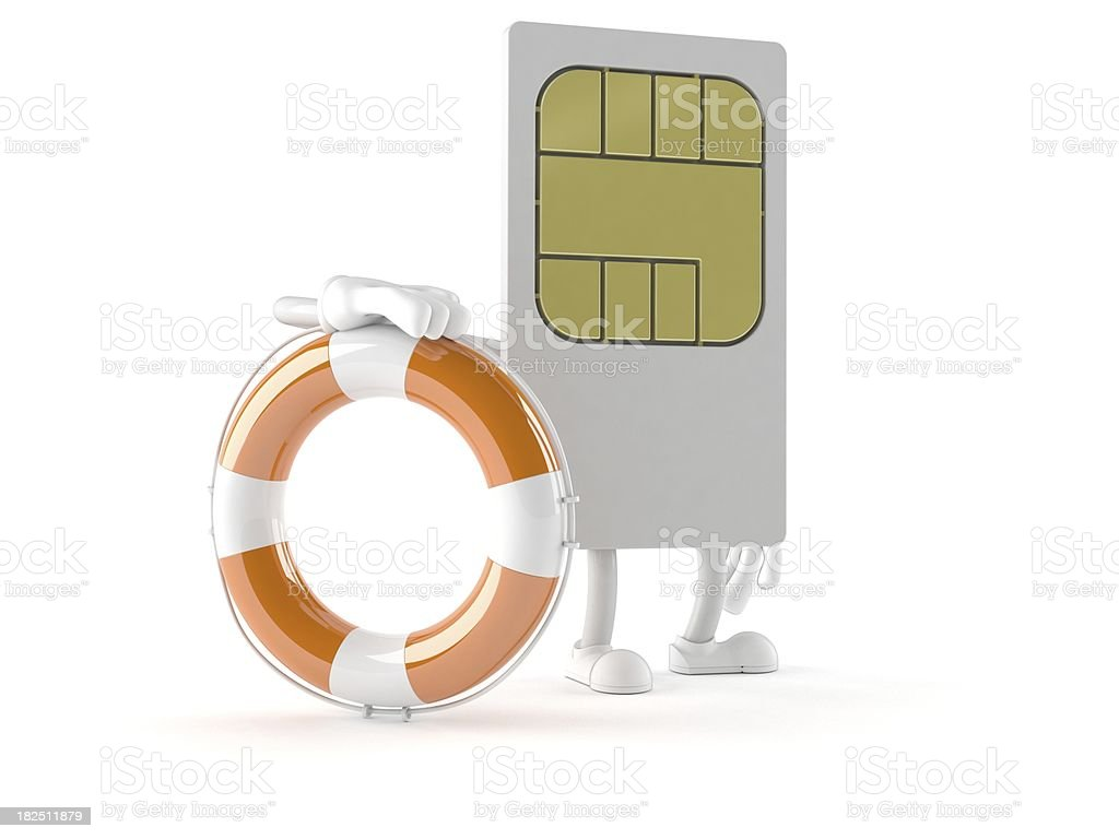 SIM card royalty-free stock photo