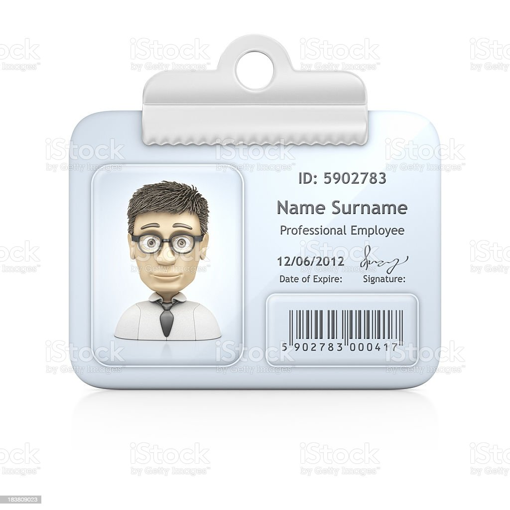 ID card royalty-free stock photo