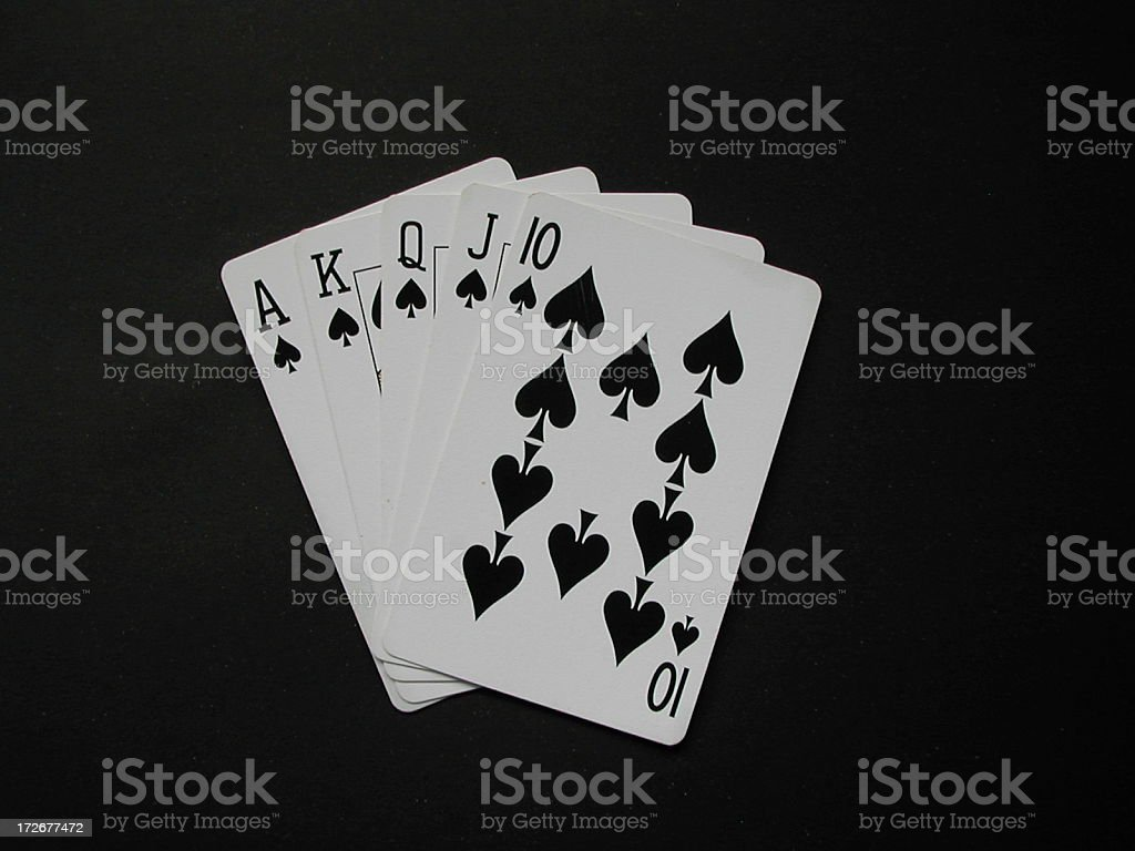 Card - Royal Flush stock photo