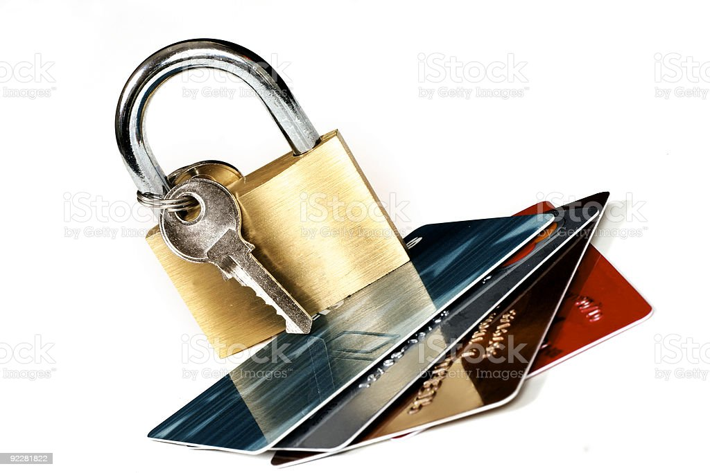 Card Security royalty-free stock photo