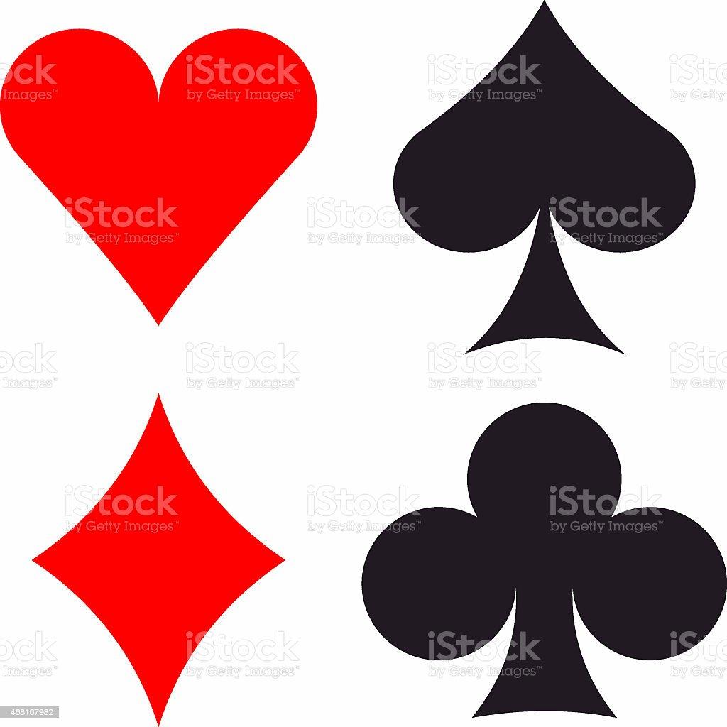 Card suits bitmap illustration stock photo