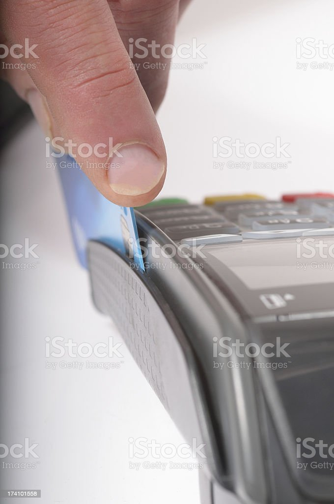 Card Swipe stock photo