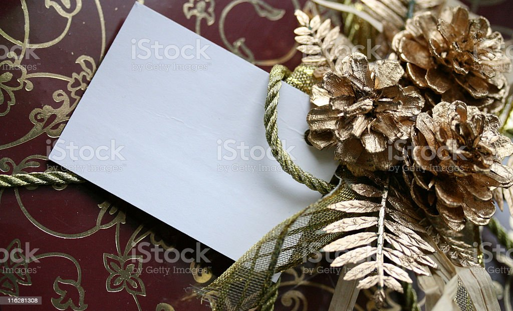 Card with decorations royalty-free stock photo
