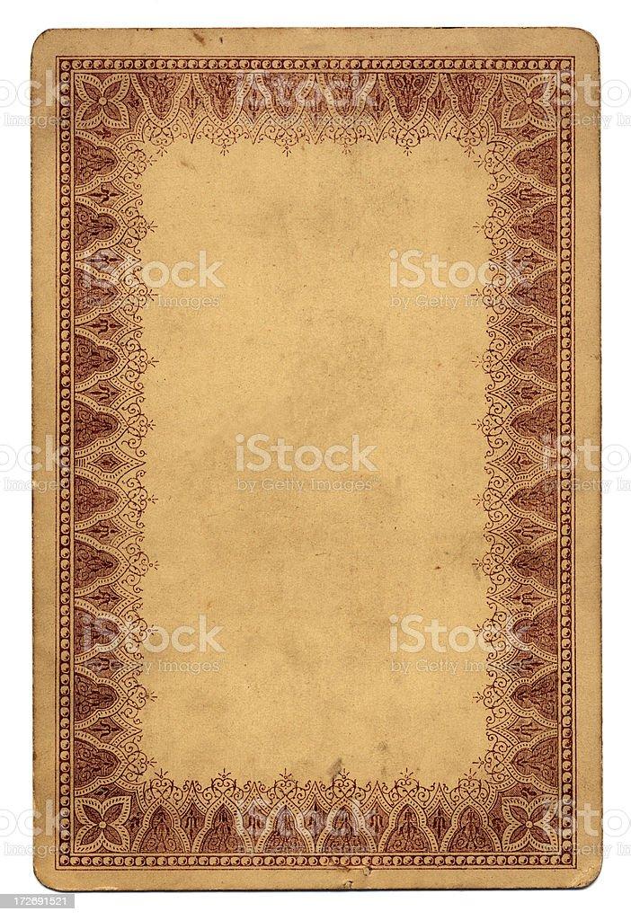 Card with decorative border stock photo
