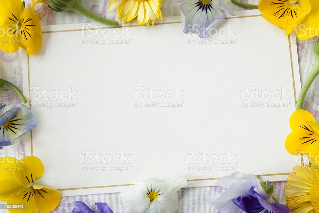 Card with flowers, stock photo
