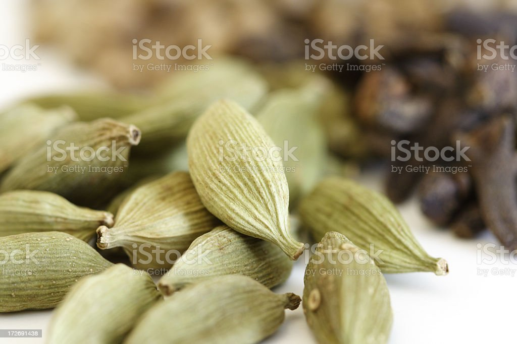 Cardamom and spice royalty-free stock photo