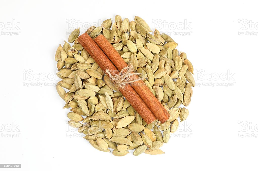 Cardamom Cinnamon Spice stock photo