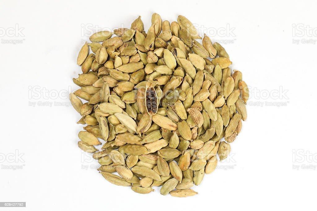 Cardamom elachi dry spice stock photo