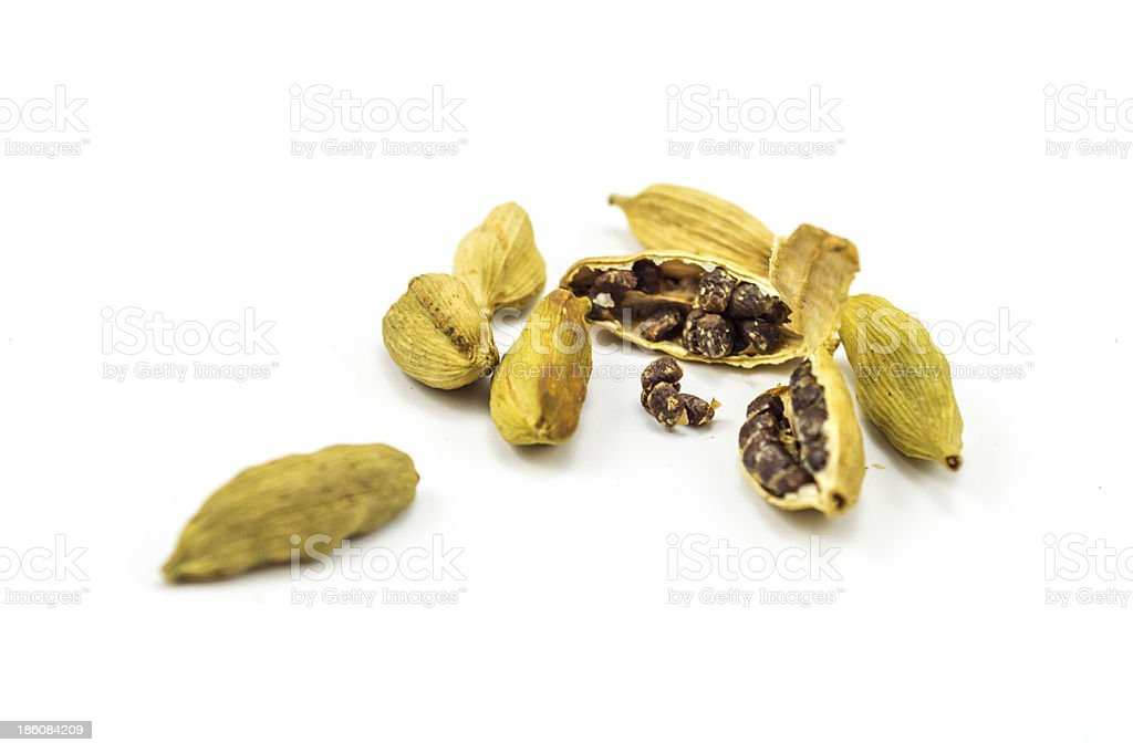 Cardamom on white stock photo
