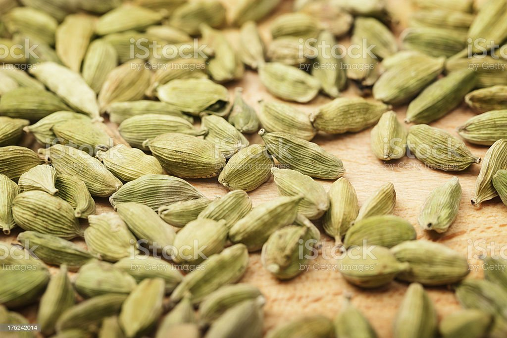 Cardamom ( Elettaria cardamomum) seeds royalty-free stock photo