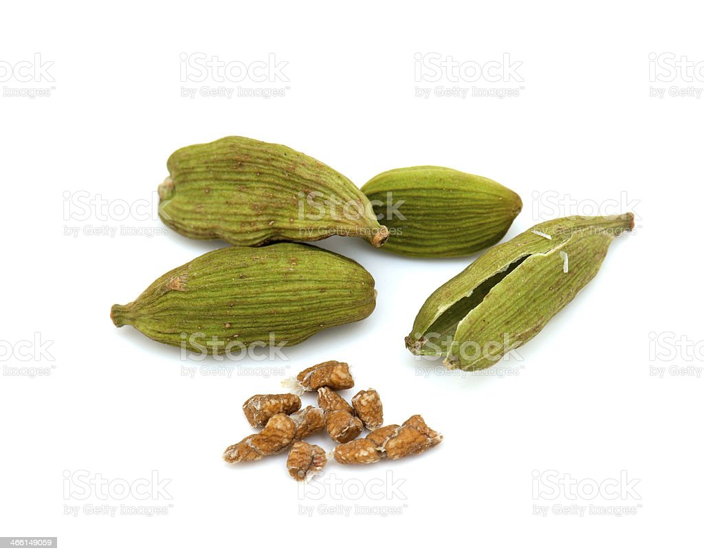 cardamom seeds stock photo