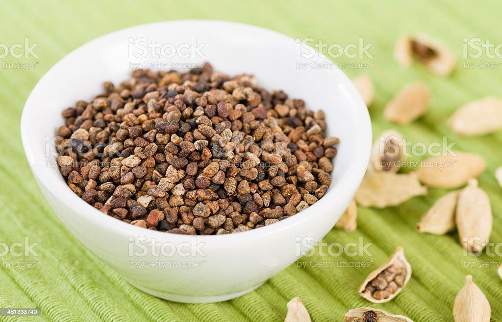 Cardamom Seeds stock photo