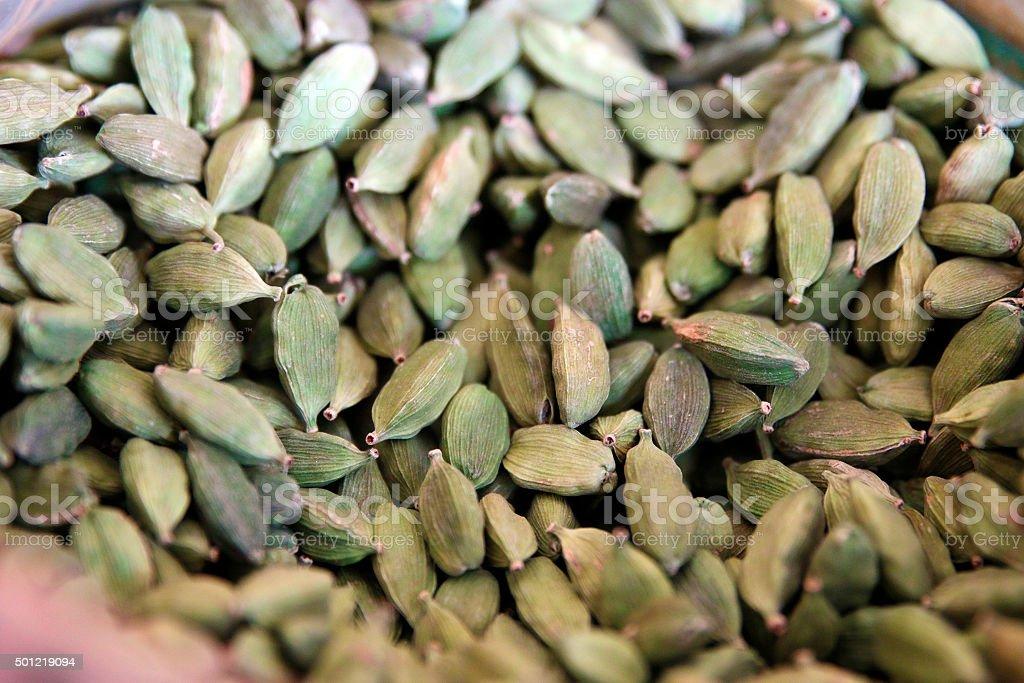 Cardamom spice stock photo