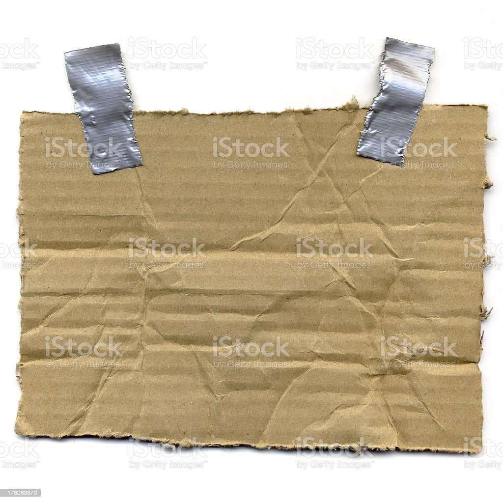 Cardboard and Duct Tape stock photo