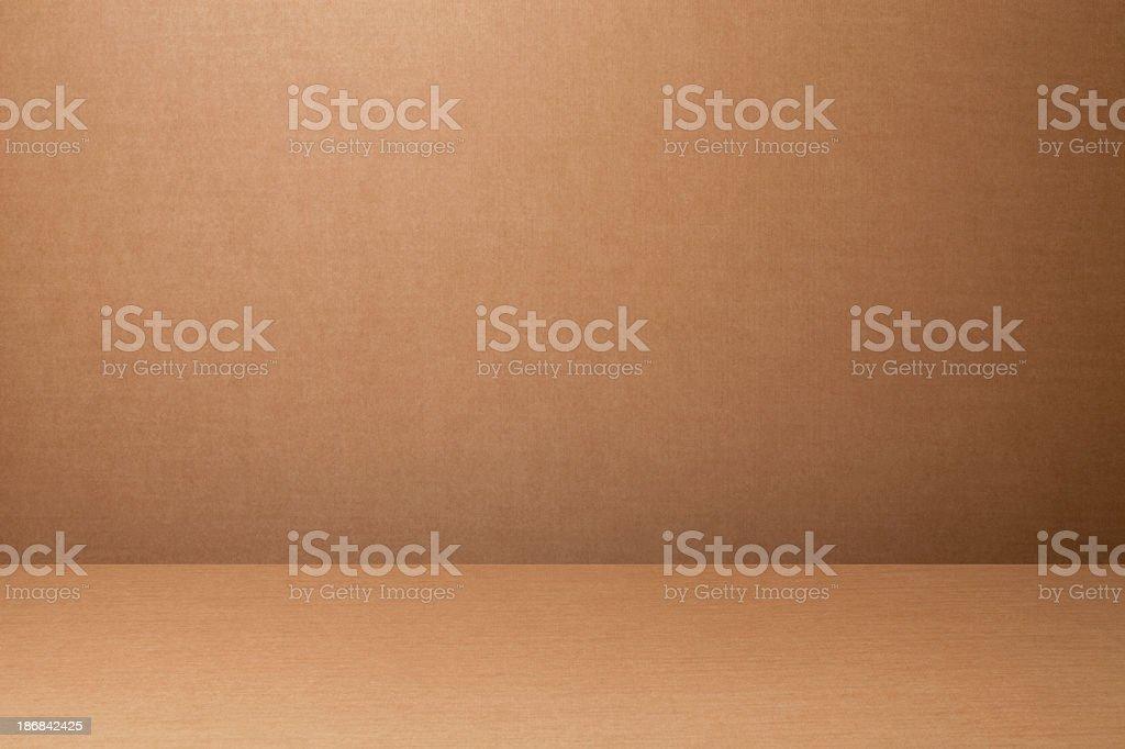 Cardboard backdrop royalty-free stock photo