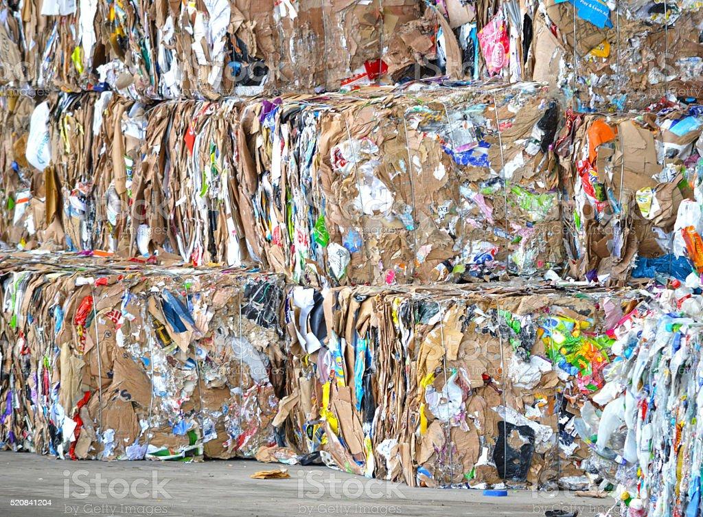 Carton ai échoué-vous prêt pour le recyclage photo libre de droits