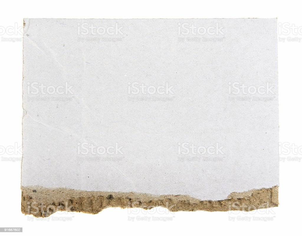 Cardboard Banner royalty-free stock photo