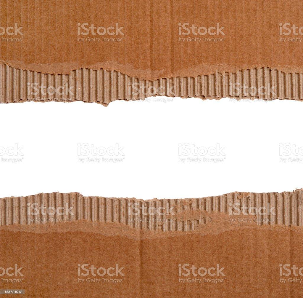 Cardboard borders royalty-free stock photo