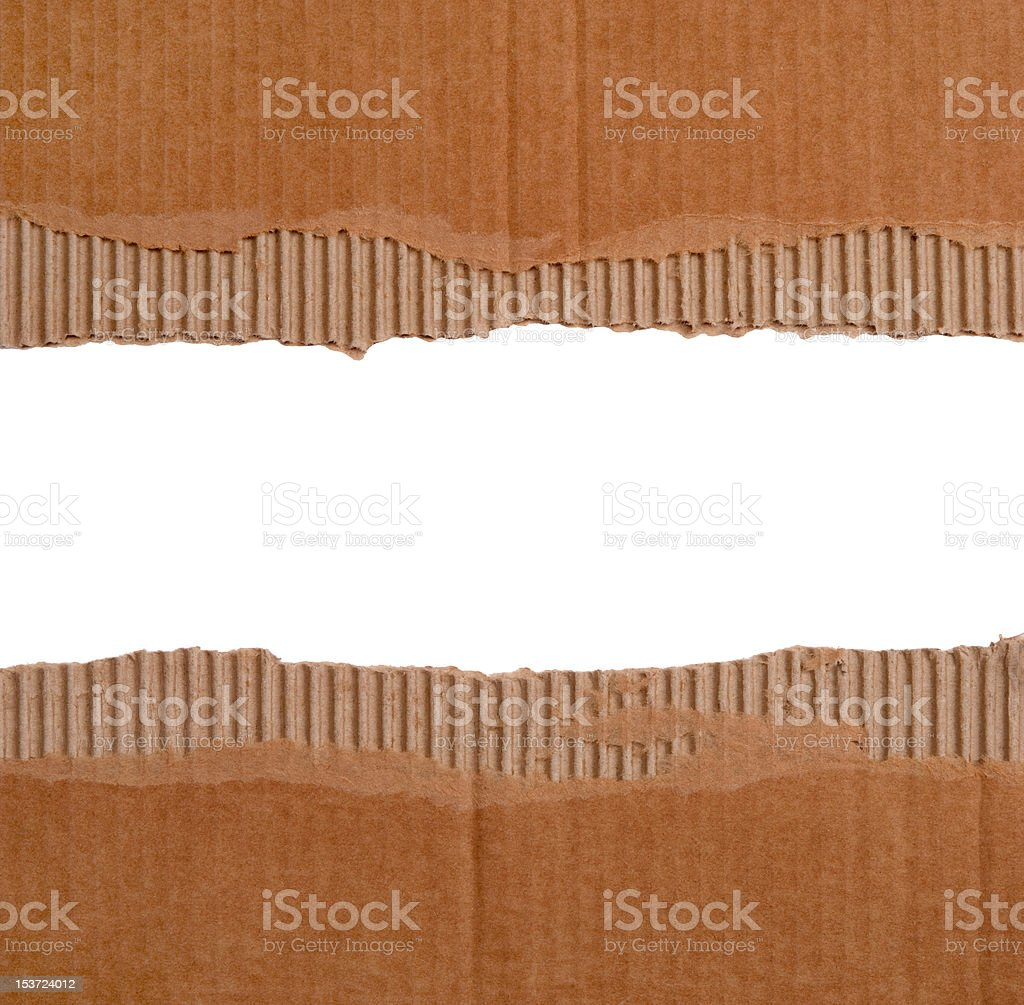 Cardboard borders stock photo