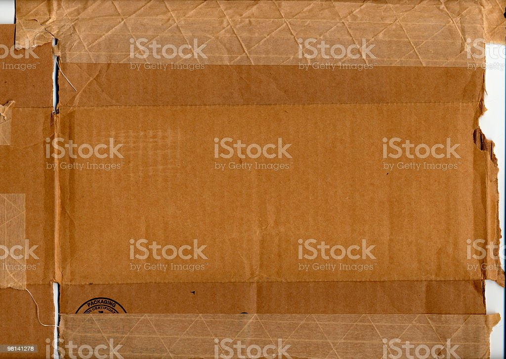 Cardboard Box and Packing Tape XXL royalty-free stock photo