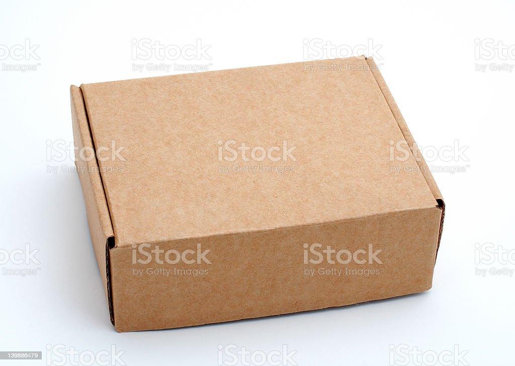 Cardboard box closed royalty-free stock photo