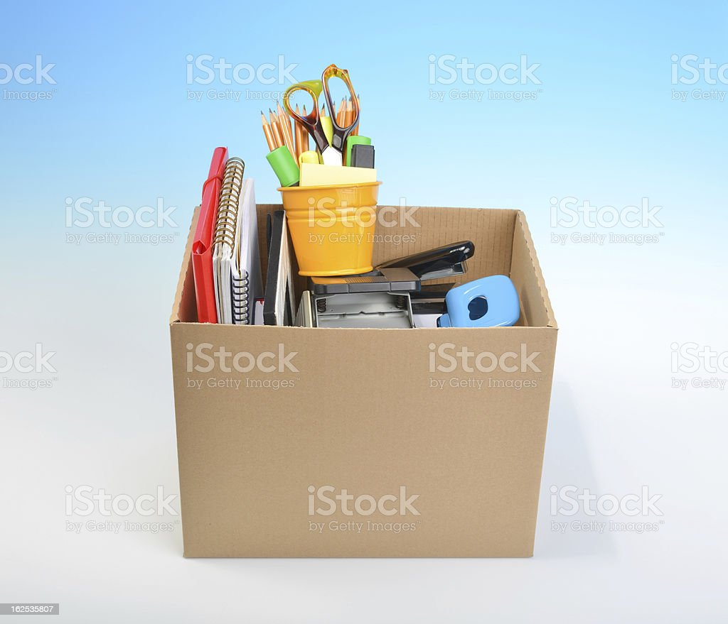 Cardboard Box Collected stock photo
