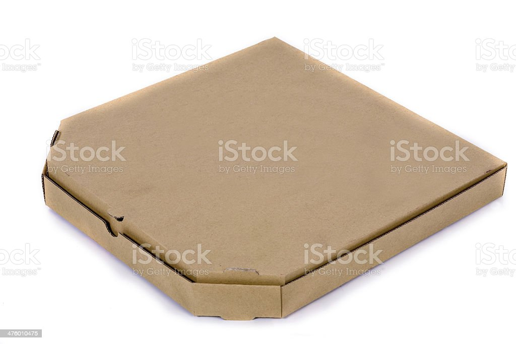 Cardboard box for pizza royalty-free stock photo