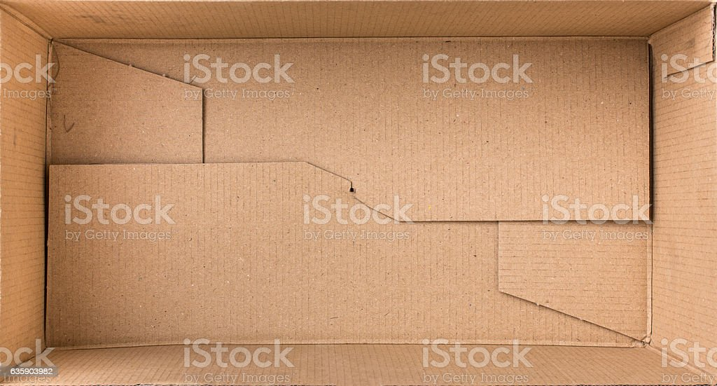 Cardboard box for things. stock photo