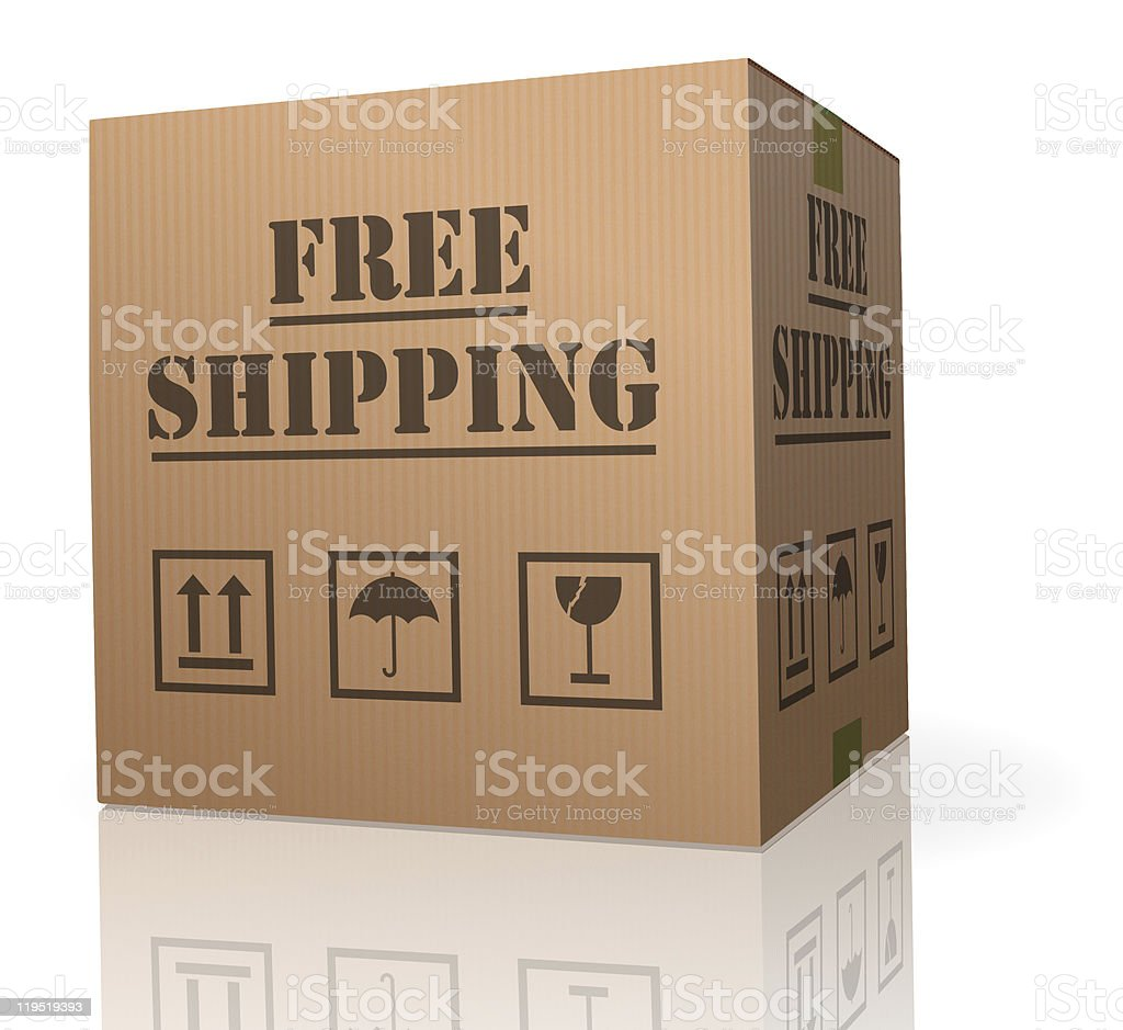 cardboard box free shipping stock photo