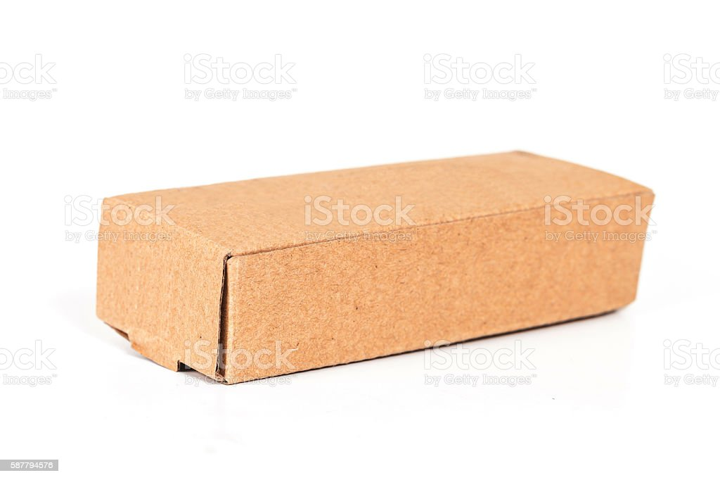 cardboard box , isolated on a white background. stock photo
