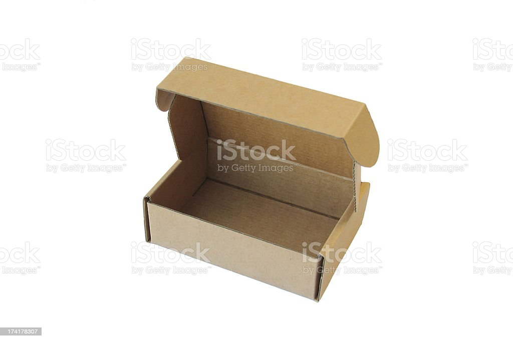 Cardboard box isolated on the white background. Vector illustrat royalty-free stock photo