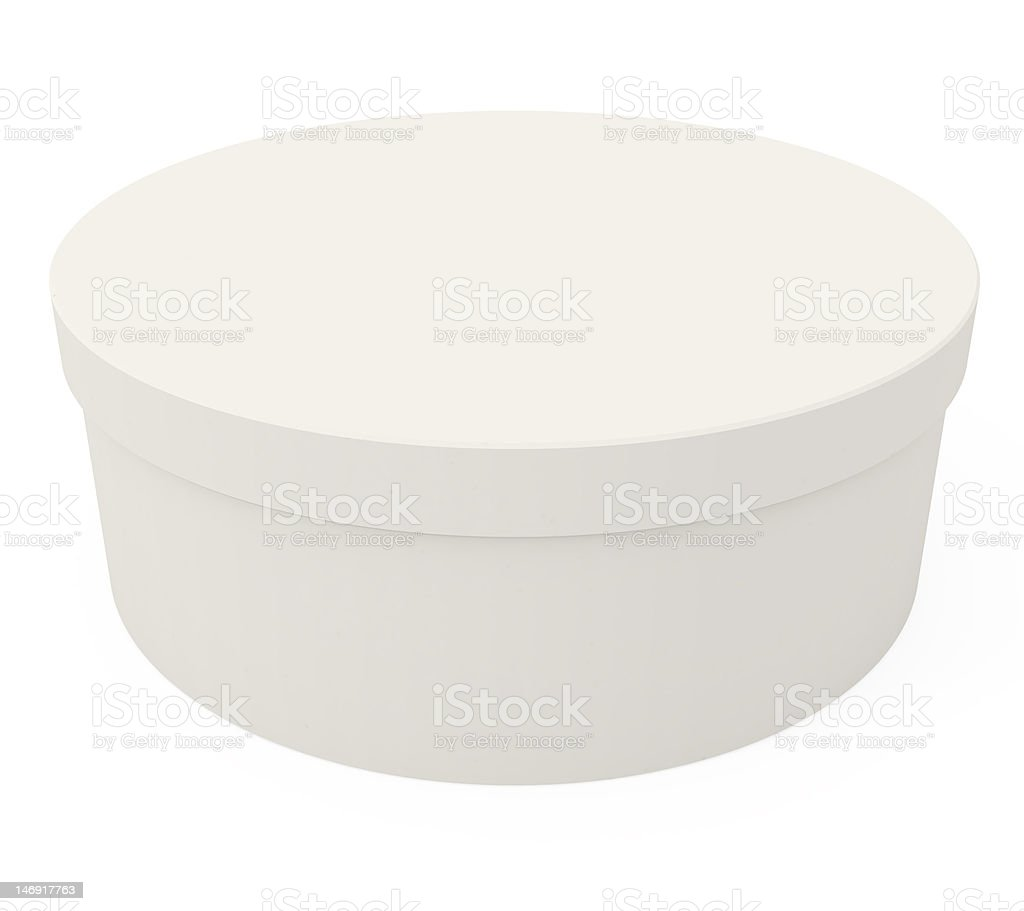 Cardboard Box isolated on white royalty-free stock vector art