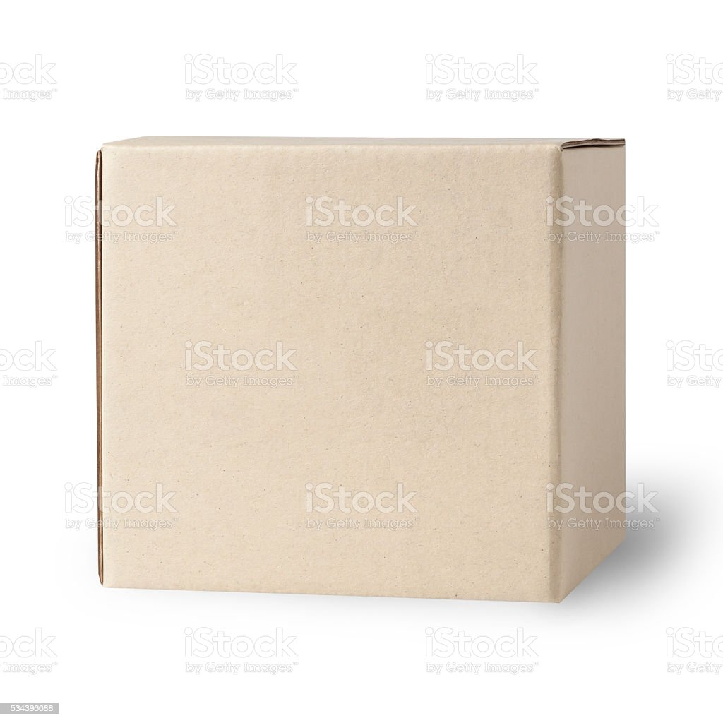 Cardboard Box isolated on white stock photo
