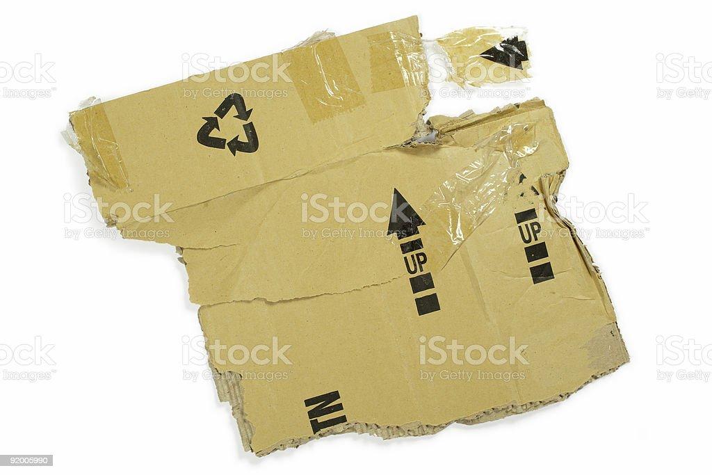 Cardboard box mangled royalty-free stock photo