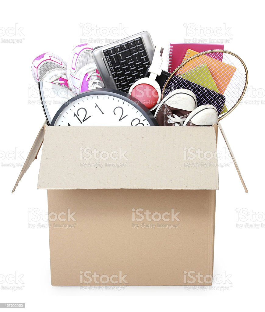 Cardboard box. moving day concept royalty-free stock photo