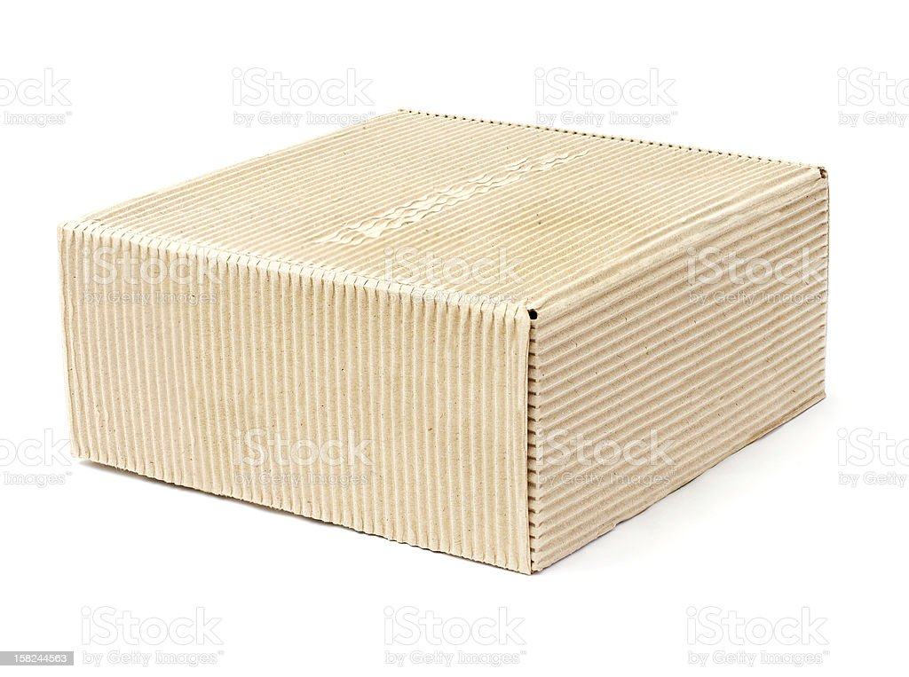cardboard box on a white background royalty-free stock photo