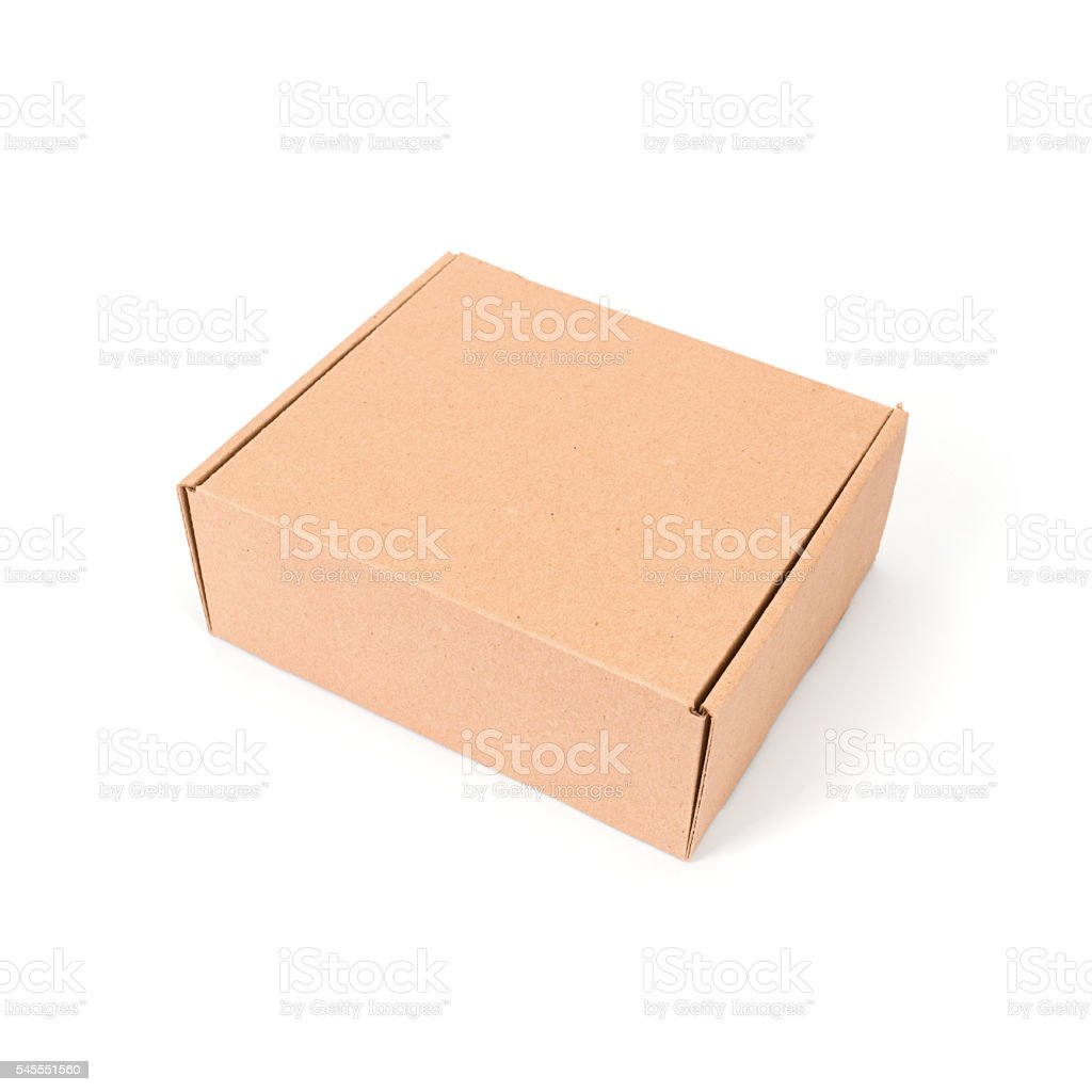 cardboard box on a white background (isolated) stock photo