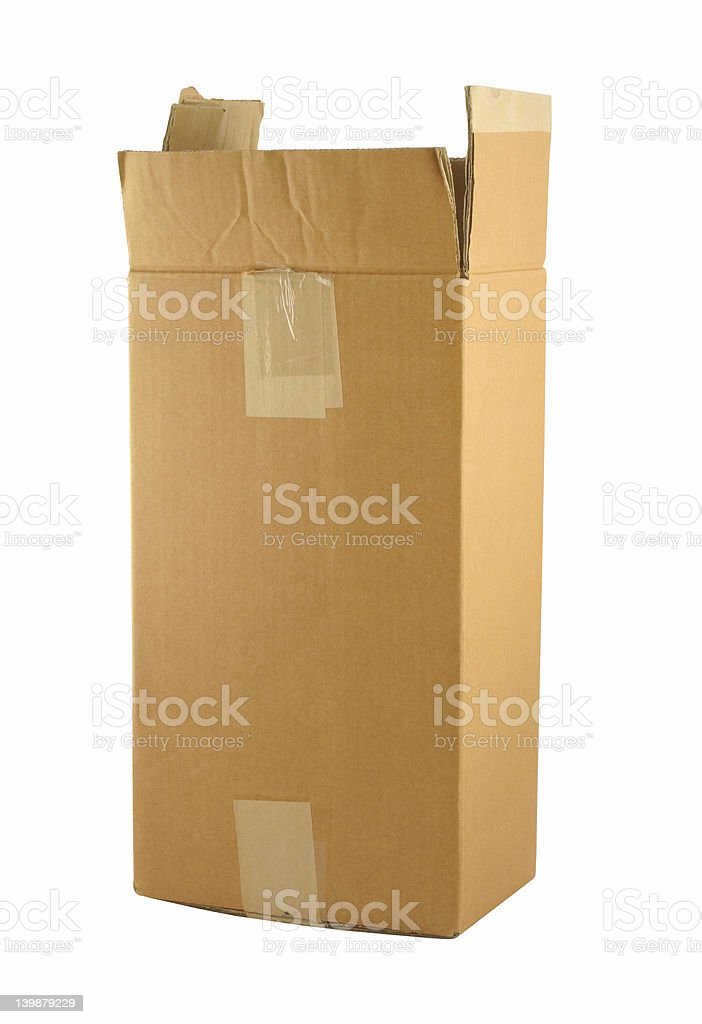 cardboard box on pure white background royalty-free stock photo