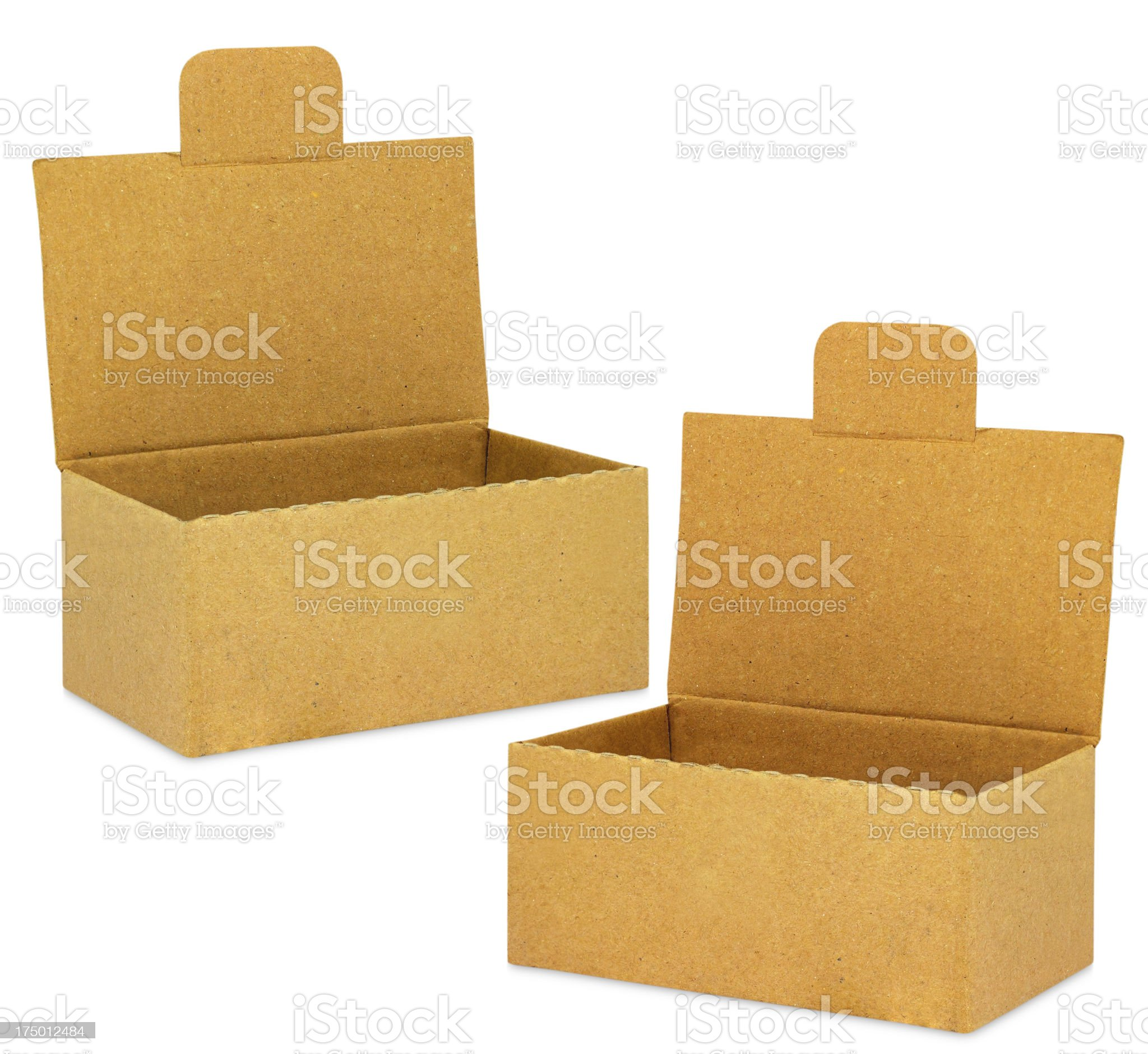 cardboard box on white background royalty-free stock photo