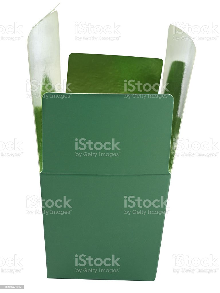 Caja de cartón foto de stock libre de derechos