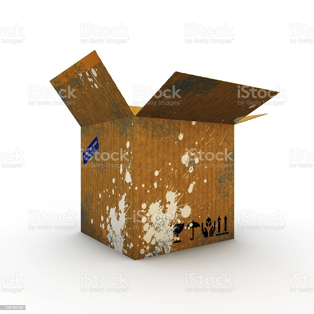 cardboard box royalty-free stock photo