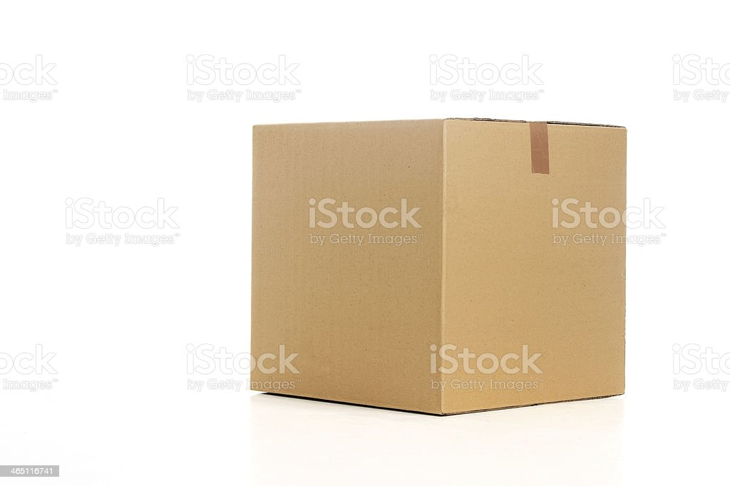 Cardboard box. stock photo