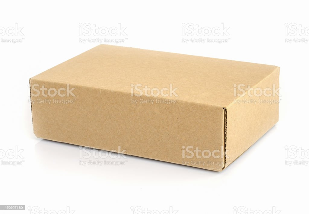 cardboard box . stock photo